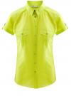 Рубашка базовая с коротким рукавом oodji #SECTION_NAME# (зеленый), 11402084-5B/45510/6A00N
