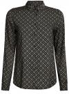Блузка принтованная из вискозы oodji #SECTION_NAME# (серый), 11411087-1/24681/2930G