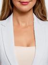 Жилет удлиненный из фактурной ткани oodji #SECTION_NAME# (белый), 22305005-1/46809/1200N - вид 4