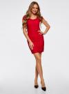Платье приталенное кружевное oodji для женщины (красный), 14001133-1/35553/4500N - вид 6