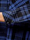 Рубашка клетчатая свободного силуэта с нагрудным карманом oodji #SECTION_NAME# (синий), 11400432-1/36218/2975C - вид 5