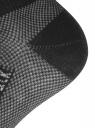 Комплект укороченных носков (3 пары) oodji для женщины (черный), 57102604T3/48022/4