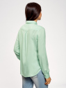 Блузка базовая из вискозы oodji #SECTION_NAME# (зеленый), 11411136B/26346/6501N - вид 3