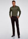 Рубашка базовая приталенная oodji #SECTION_NAME# (зеленый), 3B140000M/34146N/6600N - вид 6