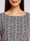 Блузка принтованная из вискозы oodji #SECTION_NAME# (белый), 11400345-1/24681/1029E - вид 4