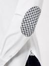 Рубашка хлопковая прямого силуэта oodji #SECTION_NAME# (белый), 11403204/36217/1000N - вид 5