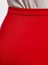 Юбка трикотажная на молнии спереди oodji #SECTION_NAME# (красный), 24100033-2/43302/4500N - вид 4