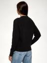 Кардиган фактурной вязки свободного силуэта oodji для женщины (черный), 63212609/49392/2900N