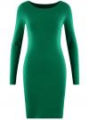 Платье трикотажное облегающего силуэта oodji #SECTION_NAME# (зеленый), 14001183B/46148/6D00N