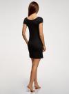 Платье домашнее с кружевной отделкой oodji #SECTION_NAME# (черный), 59801022/19768/2900N - вид 3