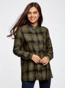 Блузка из вискозы с вышивкой на спине oodji для женщины (зеленый), 11411171/46974/6629C