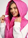 Жилет утепленный с капюшоном oodji для женщины (розовый), 19400024/48931/4100Y