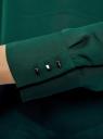 Блузка свободного силуэта с вырезом-капелькой на спине oodji #SECTION_NAME# (зеленый), 11411129/45192/6C00N - вид 5