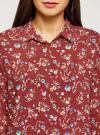 Блузка принтованная из вискозы oodji #SECTION_NAME# (красный), 11411087-1/24681/4970F - вид 4