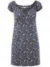 Платье хлопковое со сборками на груди oodji #SECTION_NAME# (синий), 11902047-2B/14885/7930F