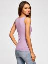 Майка базовая oodji для женщины (фиолетовый), 14315002B/46154/8000N