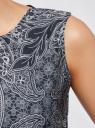 Топ принтованный из струящейся ткани oodji #SECTION_NAME# (синий), 21400351M/35542/7912E - вид 5