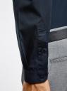 Рубашка базовая приталенного силуэта oodji #SECTION_NAME# (синий), 3B110012M/23286N/7900N - вид 5