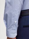 Рубашка приталенная с пуговицами на воротнике oodji #SECTION_NAME# (синий), 3L110256M/46247N/1075C - вид 5