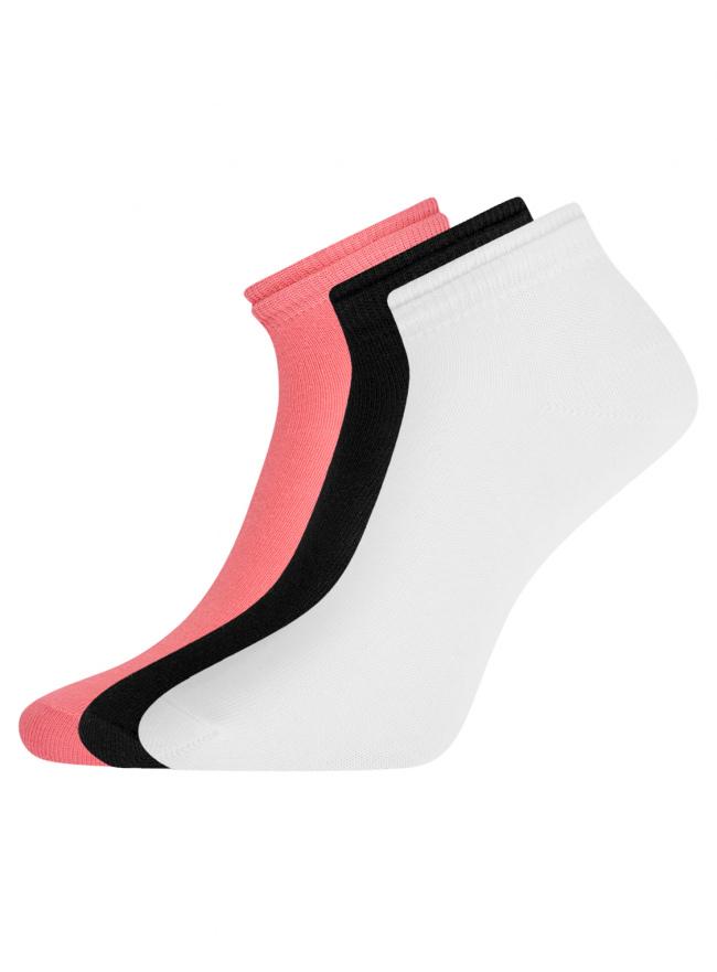 Комплект носков с двойной резинкой (3 пары) oodji для женщины (разноцветный), 57102703T3/47469/23