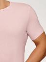 Футболка базовая oodji для мужчины (розовый), 5B621002M/44135N/4000N