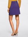 Юбка-трапеция с декоративными карманами oodji #SECTION_NAME# (фиолетовый), 11600427-1B/42250/7500N - вид 3