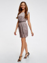 Платье принтованное из вискозы oodji для женщины (розовый), 11910073/26346/4B29E