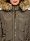 Куртка удлиненная с капюшоном oodji для женщины (зеленый), 20204047/45934/6800N - вид 4