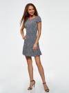 Платье трикотажное с воланами oodji #SECTION_NAME# (разноцветный), 14011017/46384/1079F - вид 6