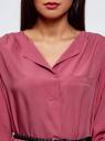 Платье вискозное с ремнем oodji #SECTION_NAME# (розовый), 11900180/42540/4A00N - вид 4