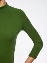 Водолазка хлопковая с рукавом 3/4 oodji #SECTION_NAME# (зеленый), 15E11007B/46147/6900N - вид 5