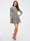 Платье трикотажное принтованное oodji #SECTION_NAME# (серый), 14001150-3/33038/1229A - вид 6