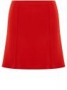 Юбка-трапеция на молнии oodji для женщины (красный), 14101108-1/33185/4500N