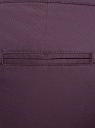Брюки-чиносы с ремнем oodji #SECTION_NAME# (фиолетовый), 11706190-5B/32887/8801N - вид 5