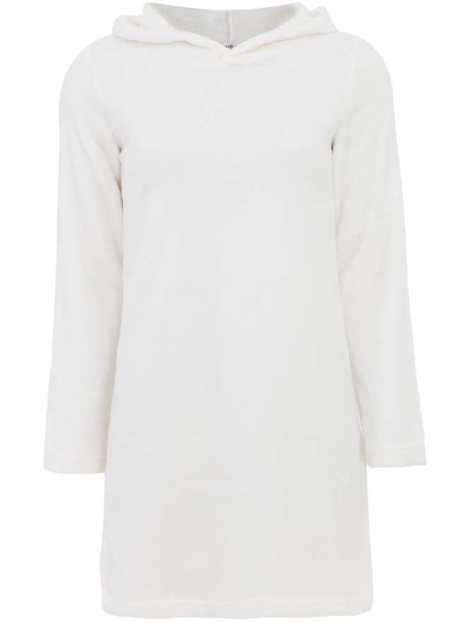 Трикотажное платье oodji для женщины (белый), 59801004-1/38319/1200N