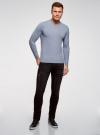 Пуловер базовый с V-образным вырезом oodji #SECTION_NAME# (синий), 4B212007M-1/34390N/7001M - вид 6