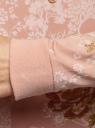 Свитшот хлопковый с принтом и вышивкой oodji для женщины (бежевый), 14808015-47/46151/3337P