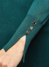 Платье базовое из вискозы с пуговицами на рукаве oodji #SECTION_NAME# (зеленый), 73912217-1B/33506/6E00N - вид 5