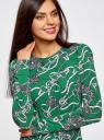 Платье трикотажное облегающего силуэта oodji #SECTION_NAME# (зеленый), 14000171/46148/6223O - вид 4