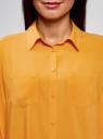 Блузка с нагрудными карманами и регулировкой длины рукава oodji #SECTION_NAME# (желтый), 11400355-8B/48458/5200N - вид 4