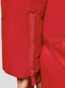 Куртка стеганая с объемным воротником oodji #SECTION_NAME# (красный), 10200079/32754/4500N - вид 5
