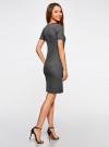 Платье в рубчик oodji #SECTION_NAME# (черный), 14011031/47349/2923N - вид 3