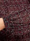Блузка гофрированная с завязками oodji #SECTION_NAME# (красный), 11414005/46166/494AF - вид 5
