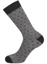 Комплект из трех пар носков oodji #SECTION_NAME# (черный), 7O233003T3/47469/2619J - вид 4