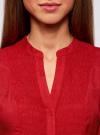 Туника с V-образным вырезом oodji для женщины (красный), 21412068-2/19984/4500N - вид 4