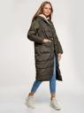 Куртка утепленная с капюшоном oodji для женщины (зеленый), 10207009-1/45928/6800N