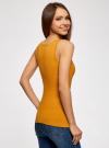 Майка базовая oodji для женщины (желтый), 14315002B/46154/5200N - вид 3