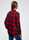 Блузка принтованная из вискозы oodji для женщины (красный), 11411098/45208/4579C
