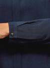 Блузка принтованная из вискозы с воротником-стойкой oodji #SECTION_NAME# (синий), 21411063-1/26346/7900N - вид 5