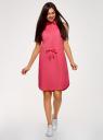 Платье хлопковое на кулиске oodji #SECTION_NAME# (розовый), 11901147-5B/42468/4D00N - вид 2